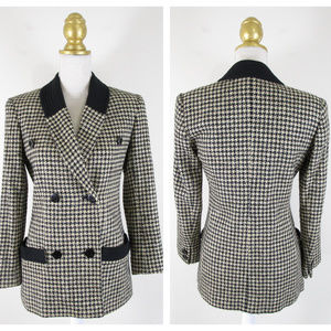Carlisle Houndstooth Double Breasted Blazer 4